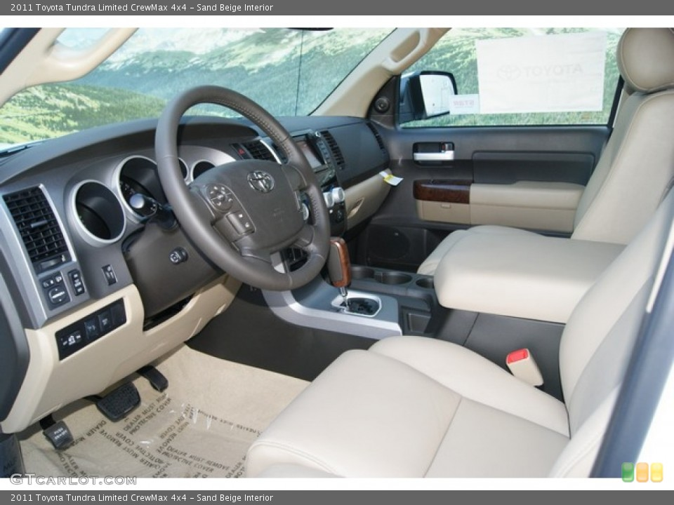 Sand Beige Interior Photo for the 2011 Toyota Tundra Limited CrewMax 4x4 #51790166