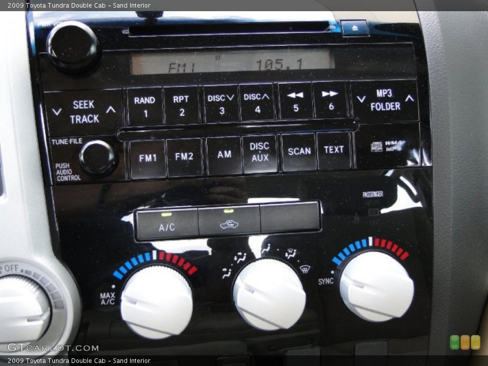 Sand Interior Controls for the 2009 Toyota Tundra Double Cab #51876913