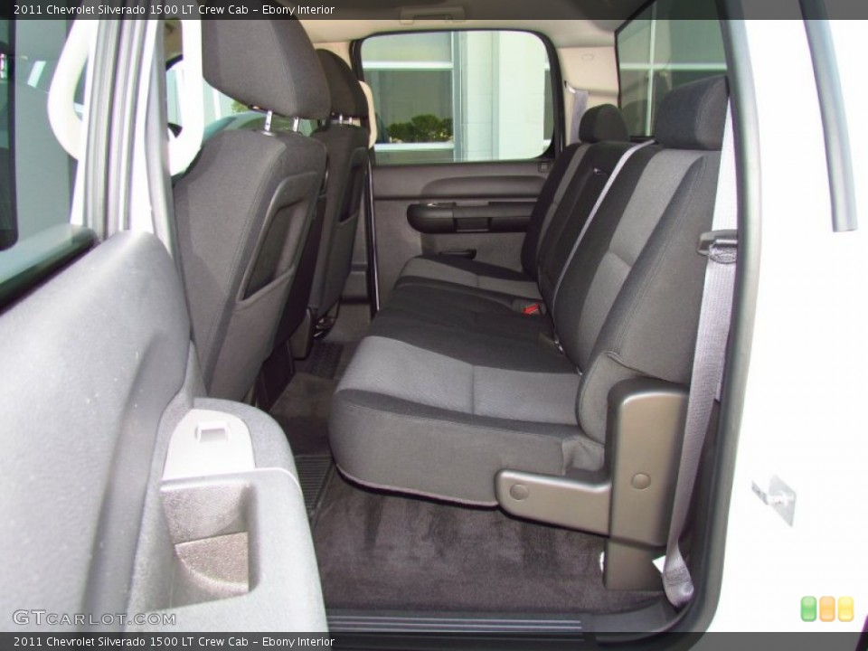 Ebony Interior Photo for the 2011 Chevrolet Silverado 1500 LT Crew Cab #51980132