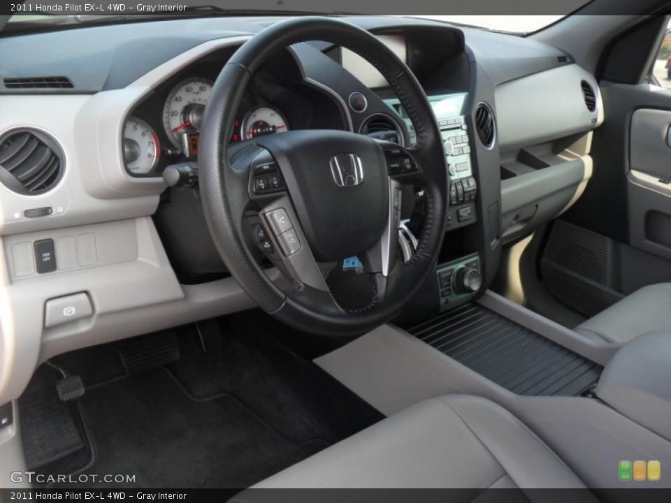 Gray Interior Prime Interior for the 2011 Honda Pilot EX-L 4WD #51983897