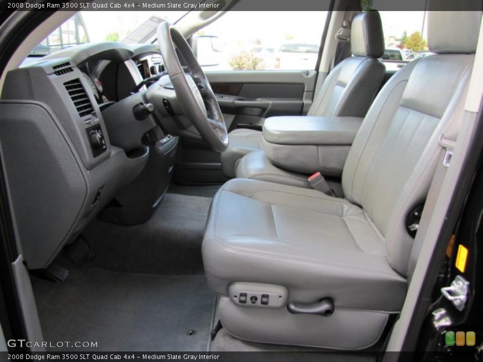 Medium Slate Gray Interior Photo for the 2008 Dodge Ram 3500 SLT Quad Cab 4x4 #52076594