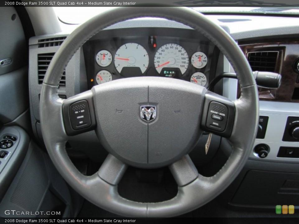 Medium Slate Gray Interior Steering Wheel for the 2008 Dodge Ram 3500 SLT Quad Cab 4x4 #52076651