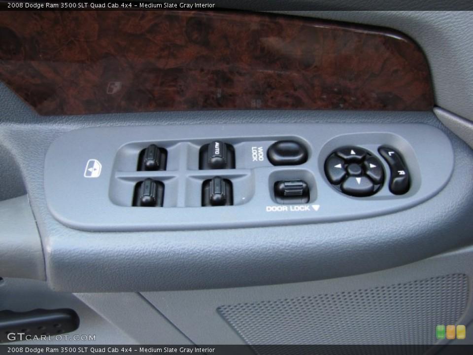 Medium Slate Gray Interior Controls for the 2008 Dodge Ram 3500 SLT Quad Cab 4x4 #52076738