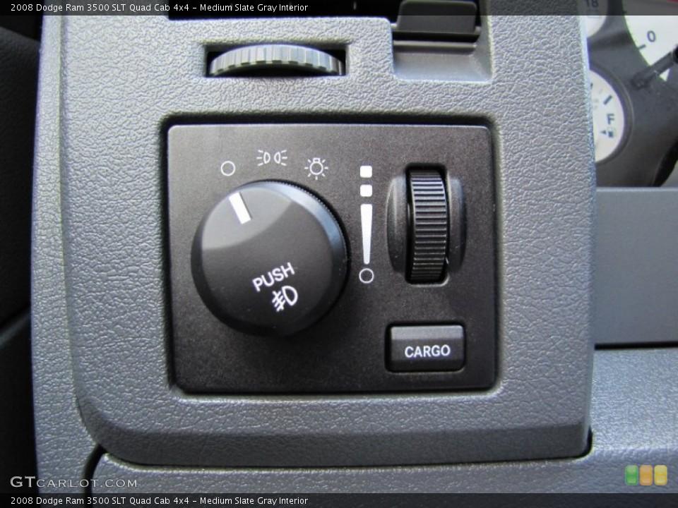 Medium Slate Gray Interior Controls for the 2008 Dodge Ram 3500 SLT Quad Cab 4x4 #52076747