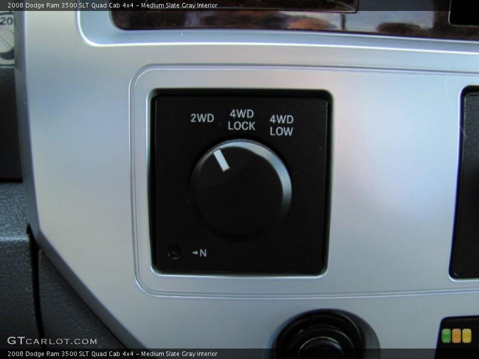 Medium Slate Gray Interior Controls for the 2008 Dodge Ram 3500 SLT Quad Cab 4x4 #52076756
