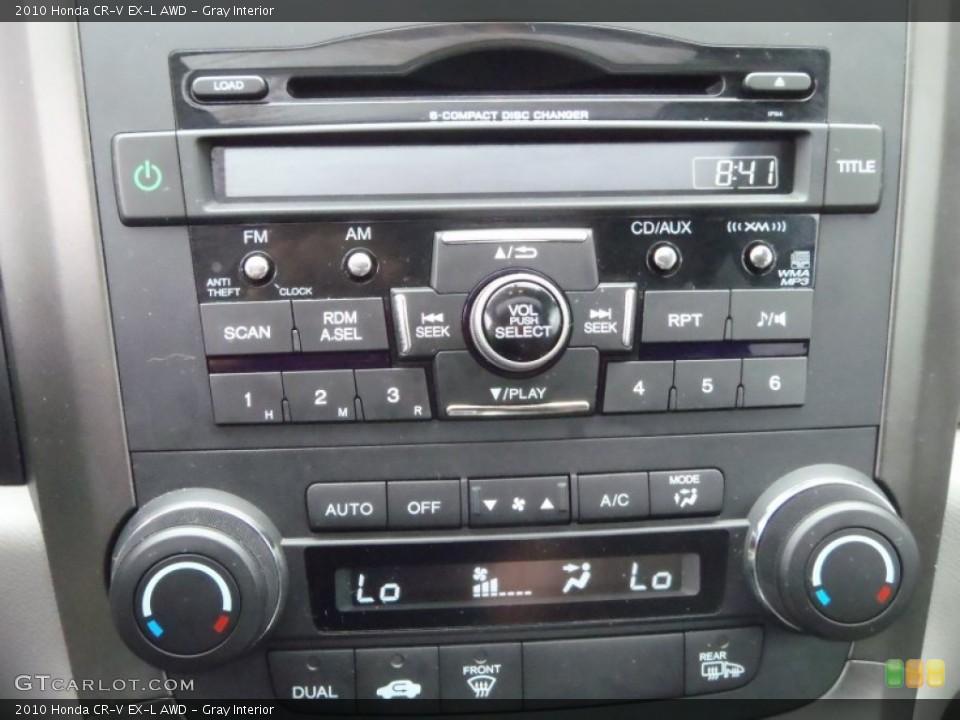 Gray Interior Controls for the 2010 Honda CR-V EX-L AWD #52133659