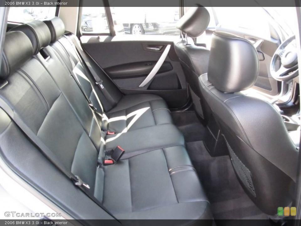 Black 2006 BMW X3 Interiors