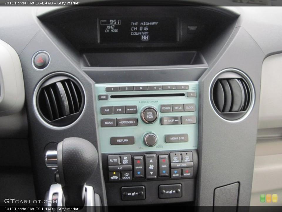 Gray Interior Controls for the 2011 Honda Pilot EX-L 4WD #52189750