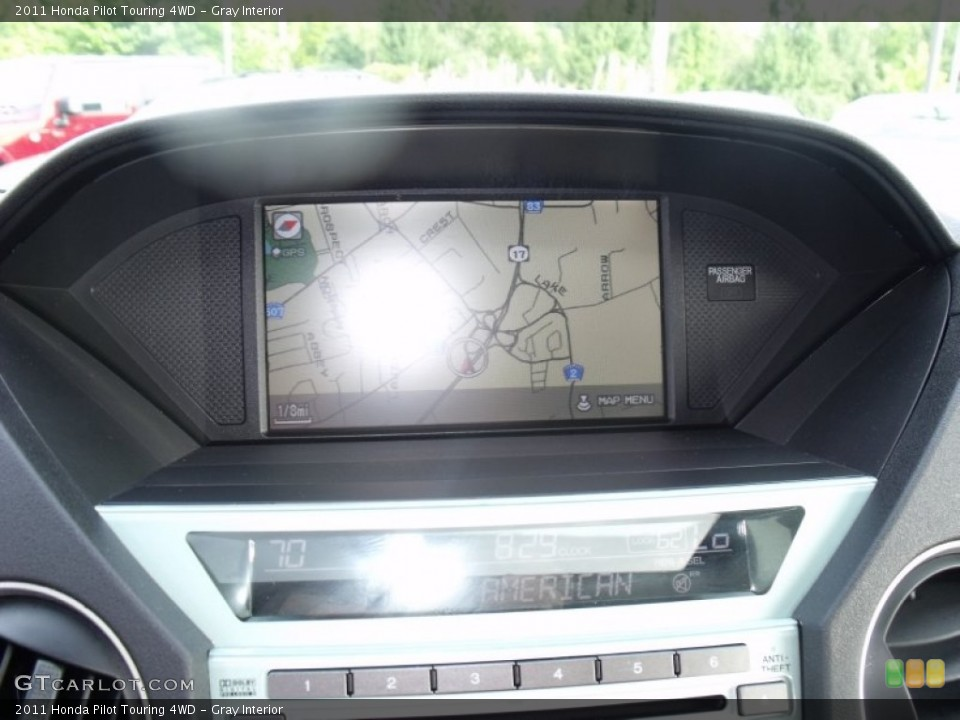 Gray Interior Navigation for the 2011 Honda Pilot Touring 4WD #52284188