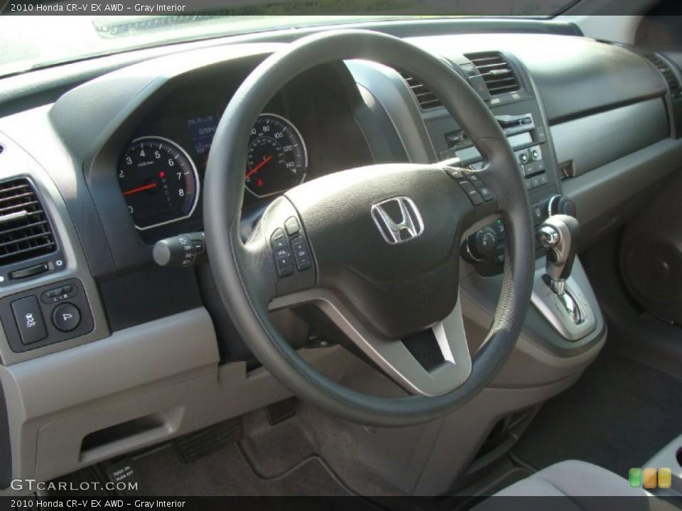 Gray Interior Steering Wheel for the 2010 Honda CR-V EX AWD #52400706