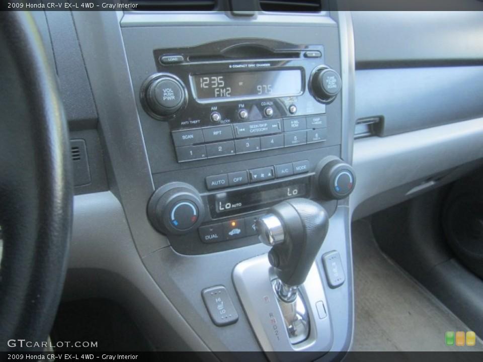 Gray Interior Controls for the 2009 Honda CR-V EX-L 4WD #52410093