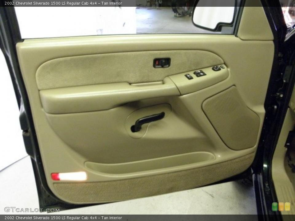Tan Interior Door Panel for the 2002 Chevrolet Silverado 1500 LS Regular Cab 4x4 #52428222