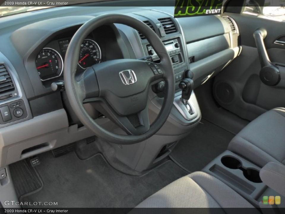 Gray Interior Prime Interior for the 2009 Honda CR-V LX #52543962