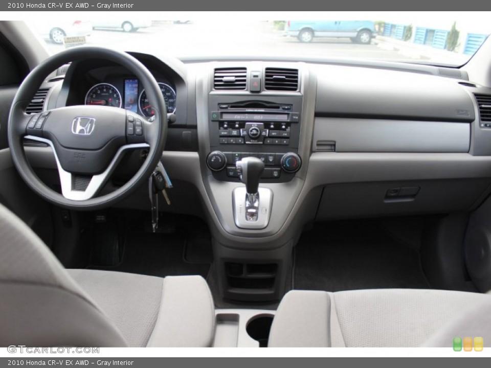 Gray Interior Dashboard for the 2010 Honda CR-V EX AWD #52673368