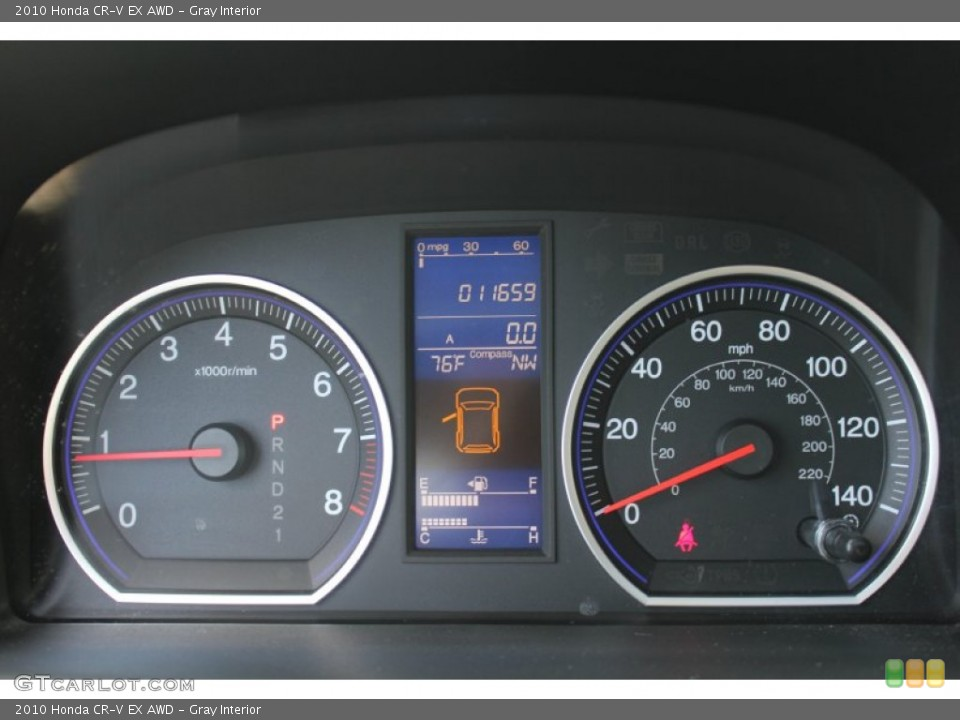 Gray Interior Gauges for the 2010 Honda CR-V EX AWD #52673389