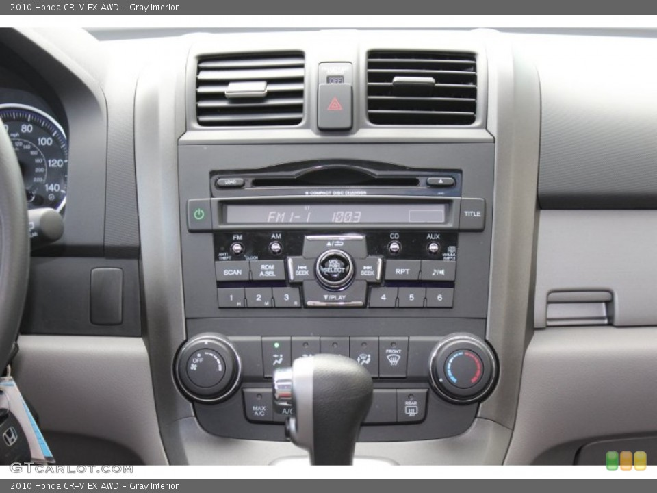 Gray Interior Controls for the 2010 Honda CR-V EX AWD #52673401