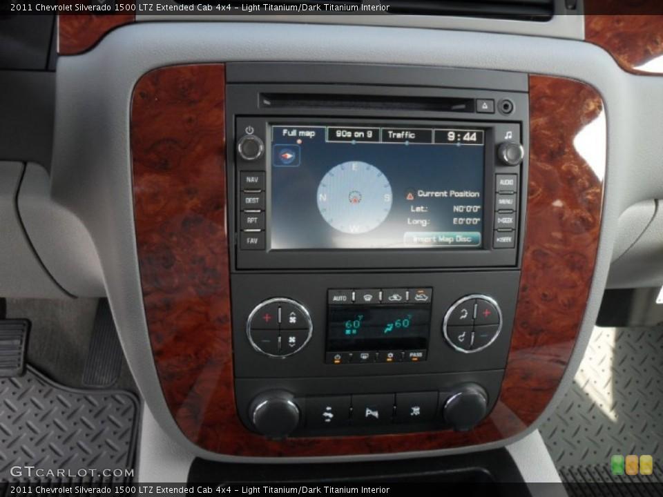 Light Titanium/Dark Titanium Interior Controls for the 2011 Chevrolet Silverado 1500 LTZ Extended Cab 4x4 #52685374