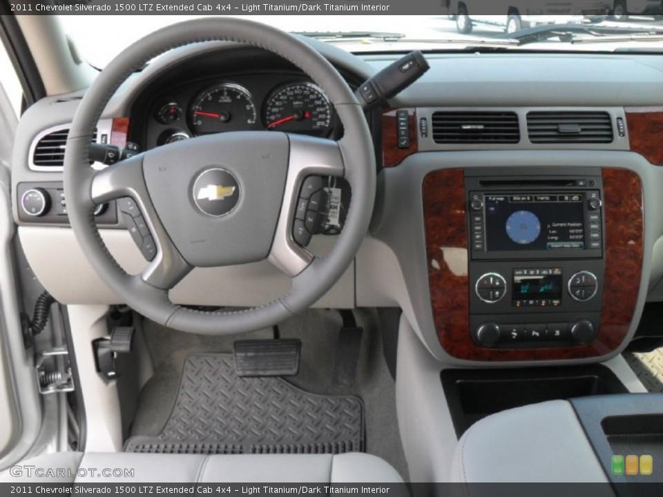 Light Titanium/Dark Titanium Interior Dashboard for the 2011 Chevrolet Silverado 1500 LTZ Extended Cab 4x4 #52685422