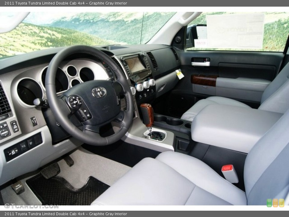Graphite Gray Interior Photo for the 2011 Toyota Tundra Limited Double Cab 4x4 #52822748