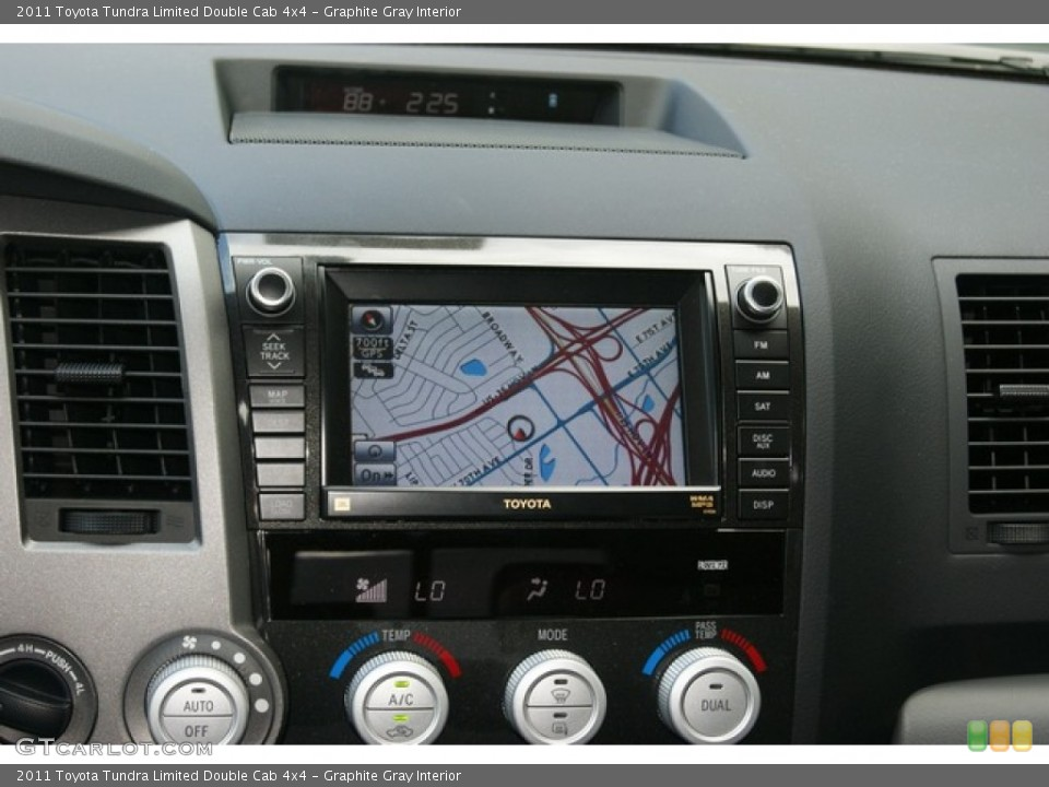 Graphite Gray Interior Navigation for the 2011 Toyota Tundra Limited Double Cab 4x4 #52822868