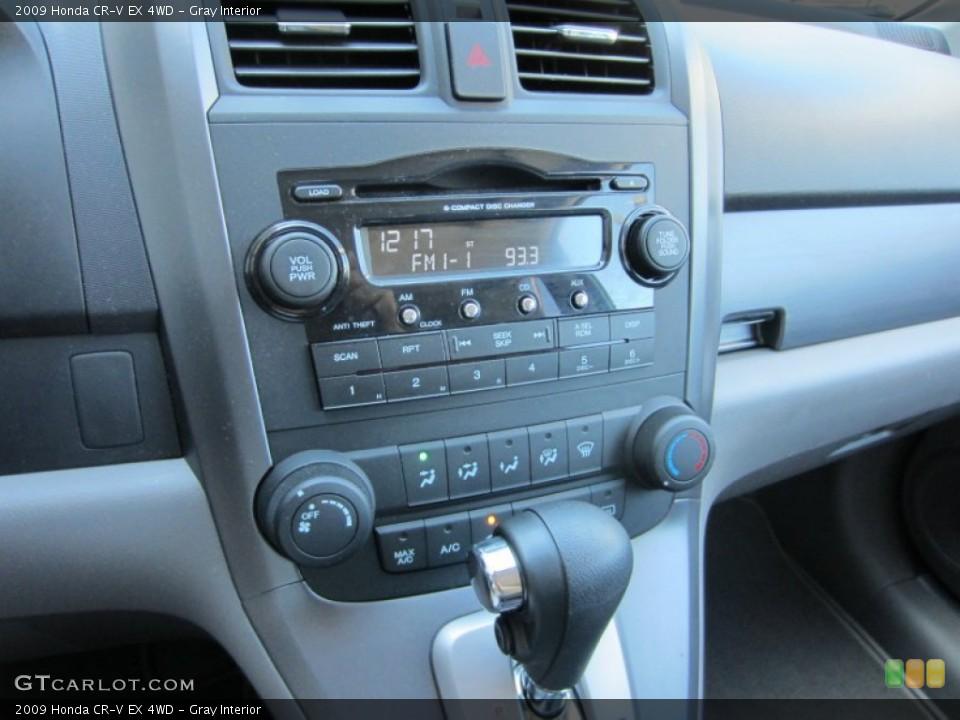 Gray Interior Controls for the 2009 Honda CR-V EX 4WD #52824530