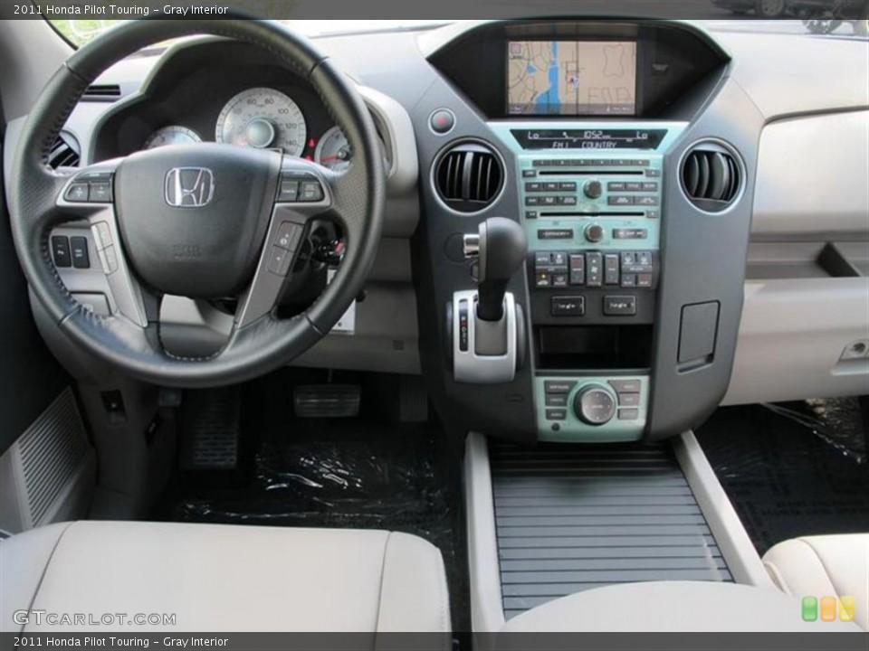 Gray Interior Dashboard for the 2011 Honda Pilot Touring #52857597