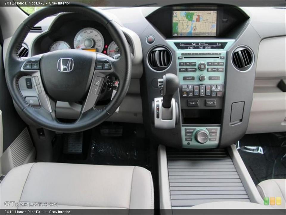 Gray Interior Dashboard for the 2011 Honda Pilot EX-L #52857741