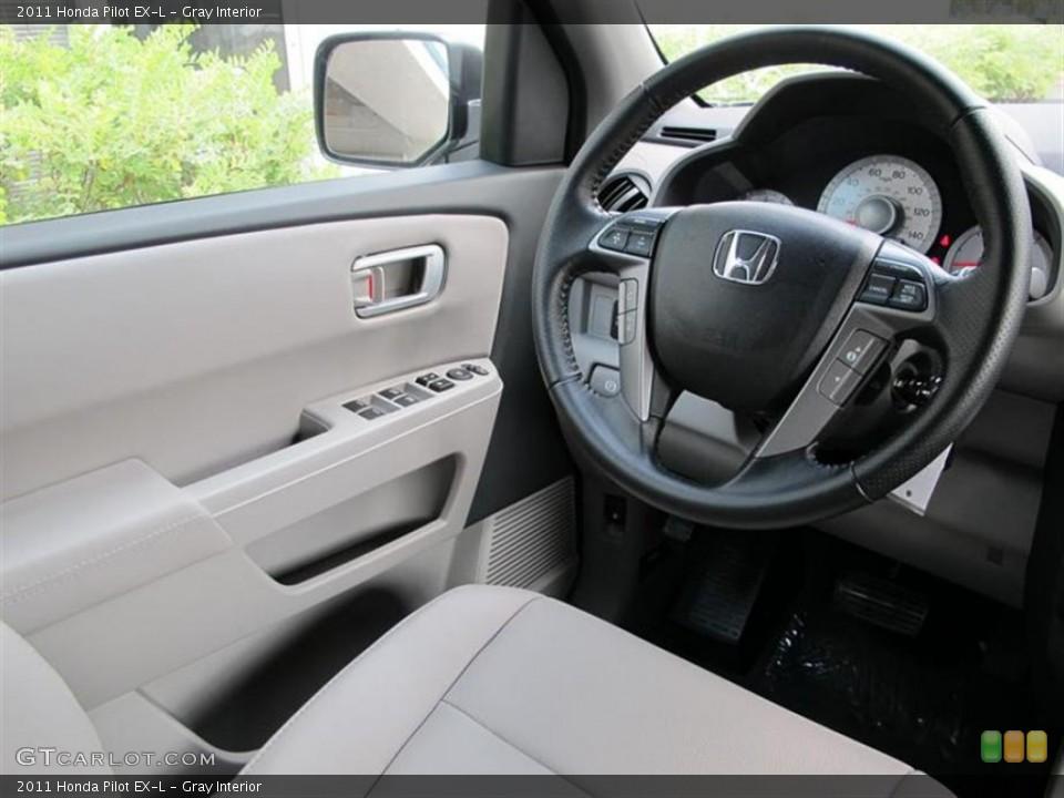 Gray Interior Steering Wheel for the 2011 Honda Pilot EX-L #52857759