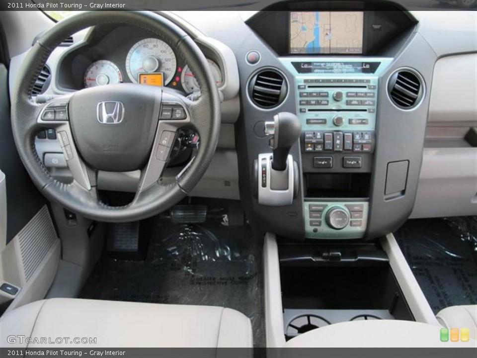 Gray Interior Dashboard for the 2011 Honda Pilot Touring #52857924