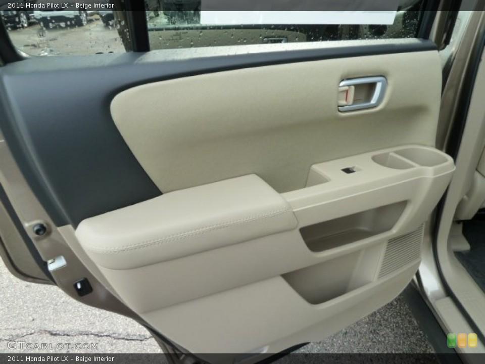 Beige Interior Door Panel for the 2011 Honda Pilot LX #52892325