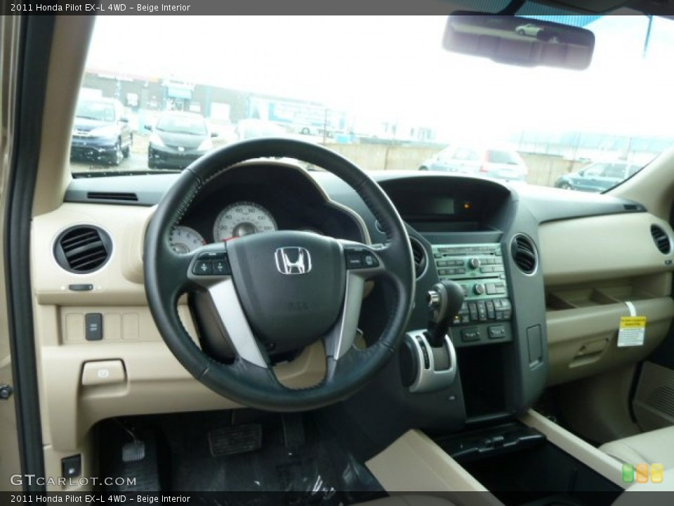 Beige Interior Dashboard for the 2011 Honda Pilot EX-L 4WD #52892673