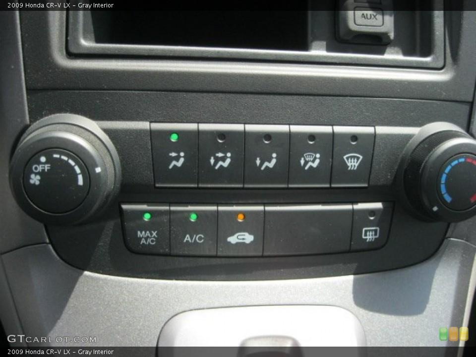 Gray Interior Controls for the 2009 Honda CR-V LX #52959126