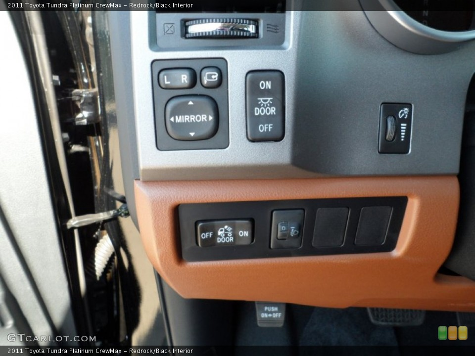 Redrock/Black Interior Controls for the 2011 Toyota Tundra Platinum CrewMax #52983913