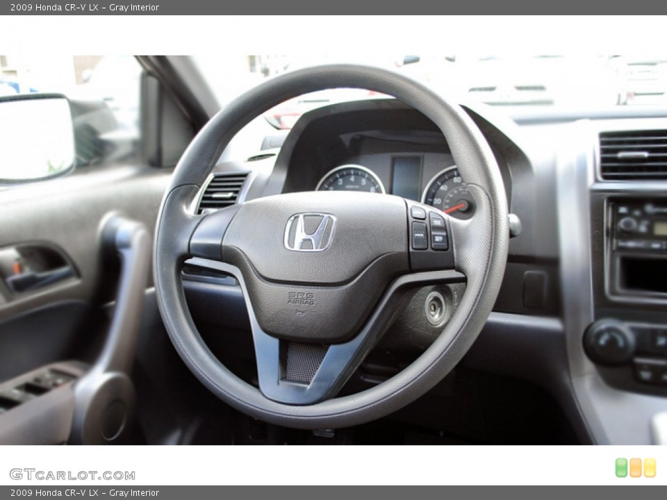 Gray Interior Steering Wheel for the 2009 Honda CR-V LX #53036534