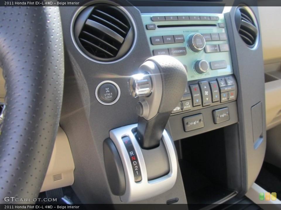 Beige Interior Controls for the 2011 Honda Pilot EX-L 4WD #53067055