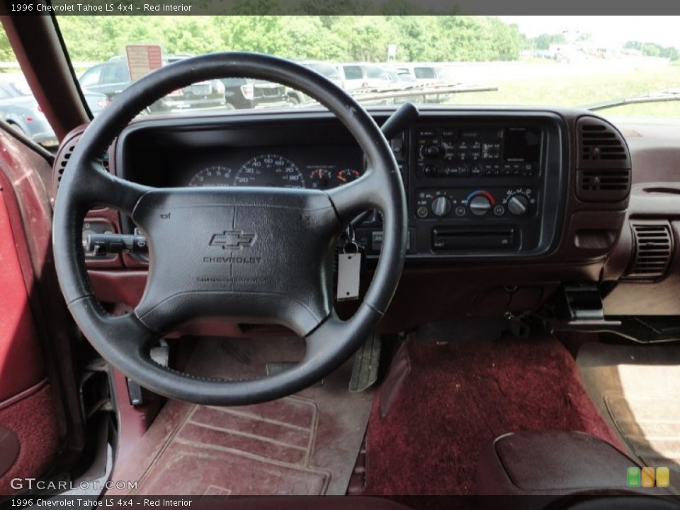 Red Interior Dashboard For The 1996 Chevrolet Tahoe Ls 4x4 53349745