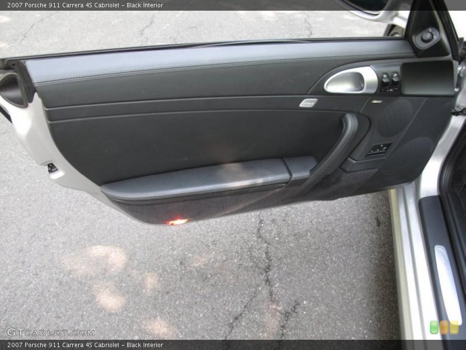 Black Interior Door Panel for the 2007 Porsche 911 Carrera 4S Cabriolet #53462736