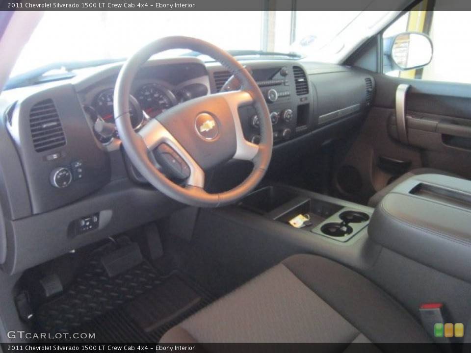 Ebony Interior Prime Interior for the 2011 Chevrolet Silverado 1500 LT Crew Cab 4x4 #53499489