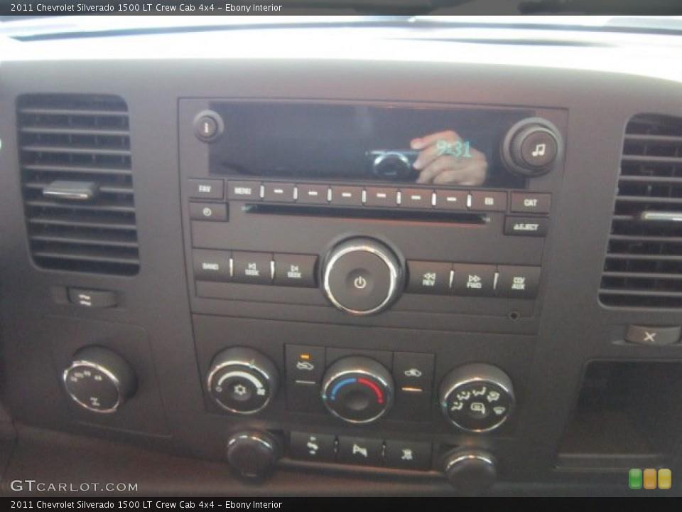 Ebony Interior Audio System for the 2011 Chevrolet Silverado 1500 LT Crew Cab 4x4 #53499530