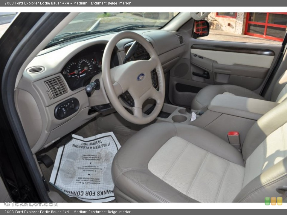 Medium Parchment Beige Interior Photo for the 2003 Ford Explorer Eddie Bauer 4x4 #53500692