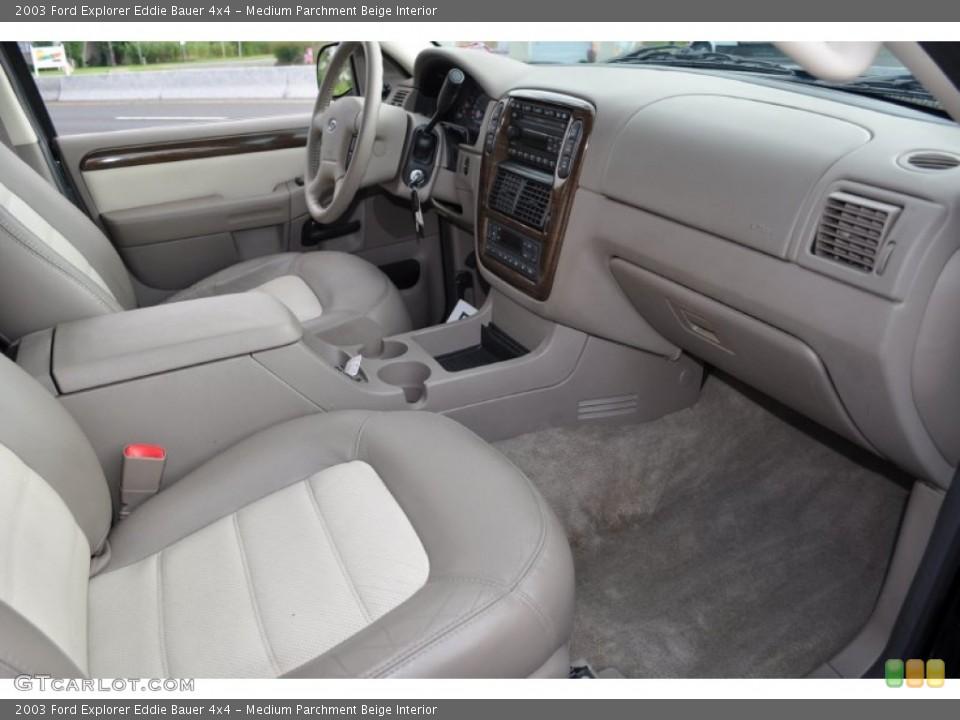 Medium Parchment Beige Interior Dashboard for the 2003 Ford Explorer Eddie Bauer 4x4 #53500715