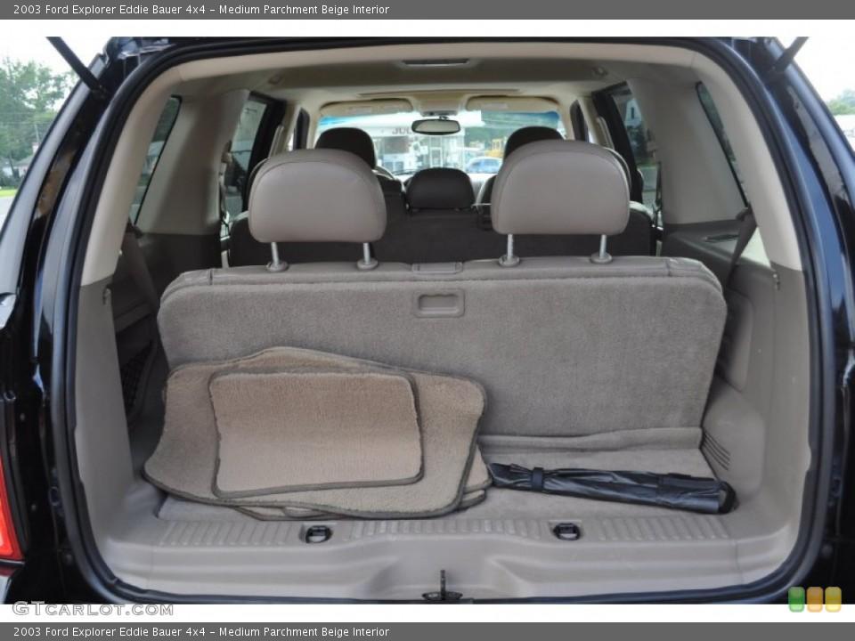Medium Parchment Beige Interior Trunk for the 2003 Ford Explorer Eddie Bauer 4x4 #53500734