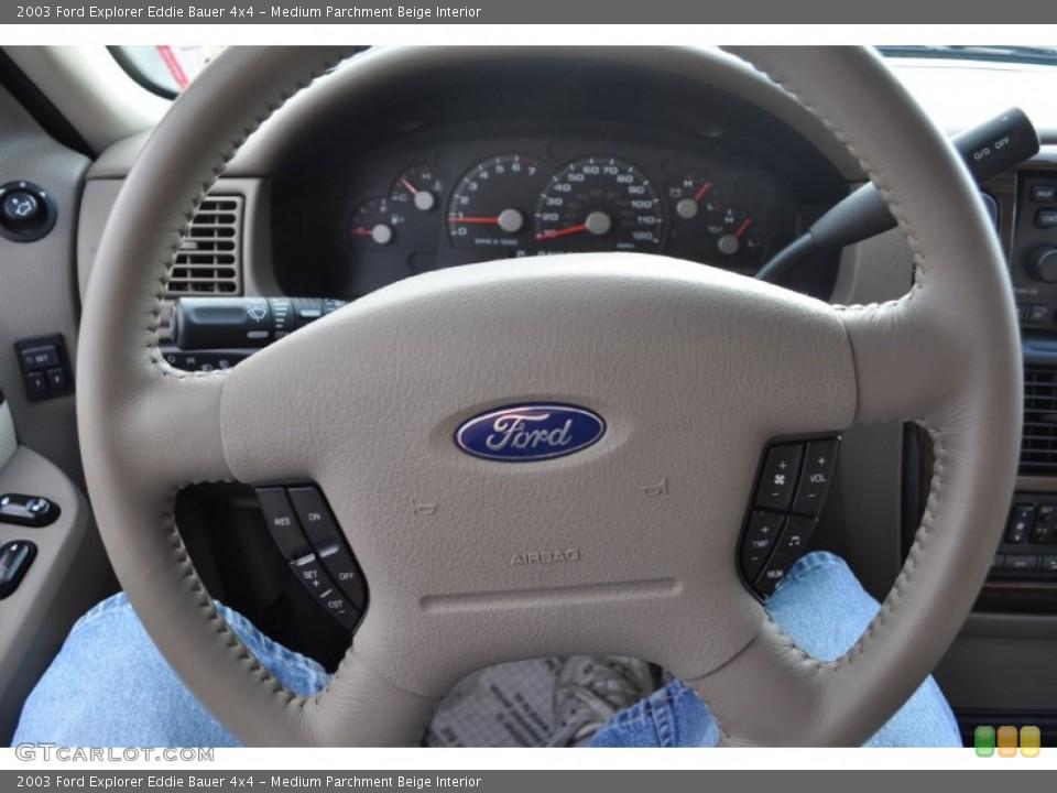 Medium Parchment Beige Interior Steering Wheel for the 2003 Ford Explorer Eddie Bauer 4x4 #53500764