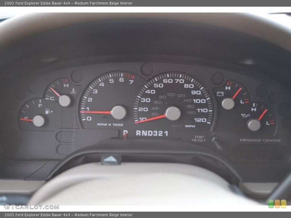 Medium Parchment Beige Interior Gauges for the 2003 Ford Explorer Eddie Bauer 4x4 #53500780