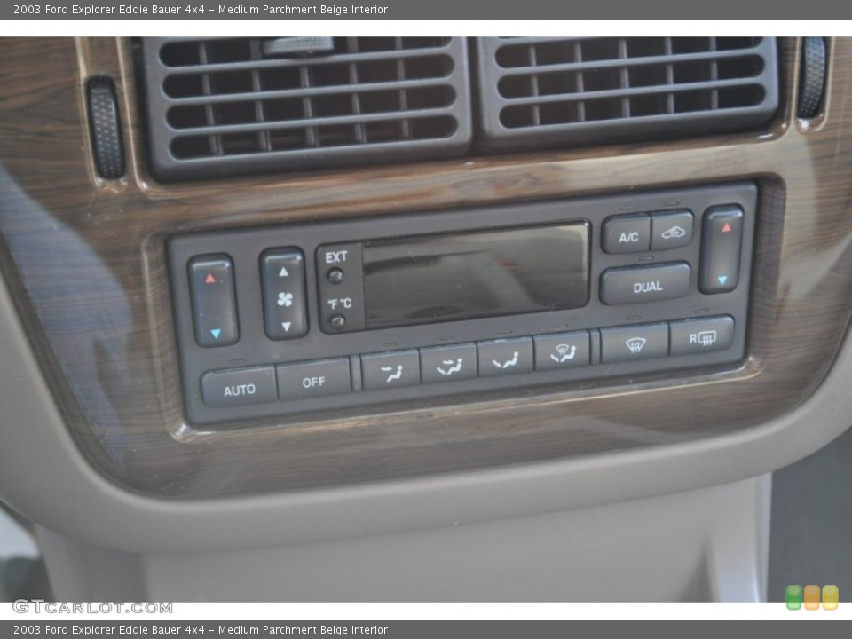 Medium Parchment Beige Interior Controls for the 2003 Ford Explorer Eddie Bauer 4x4 #53500801