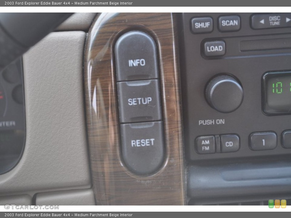 Medium Parchment Beige Interior Controls for the 2003 Ford Explorer Eddie Bauer 4x4 #53500816