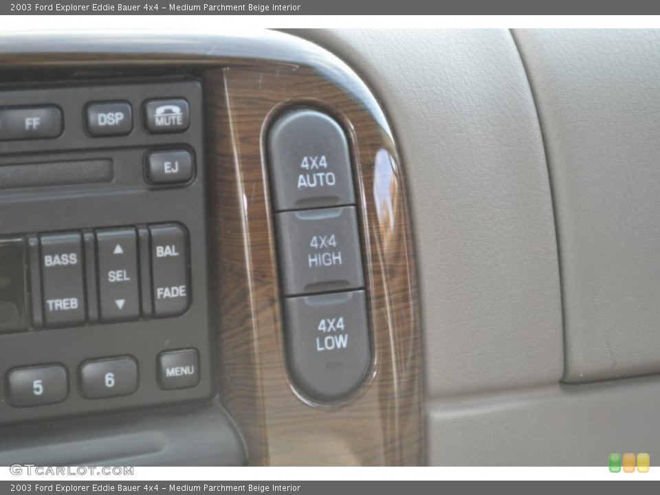 Medium Parchment Beige Interior Controls for the 2003 Ford Explorer Eddie Bauer 4x4 #53500831