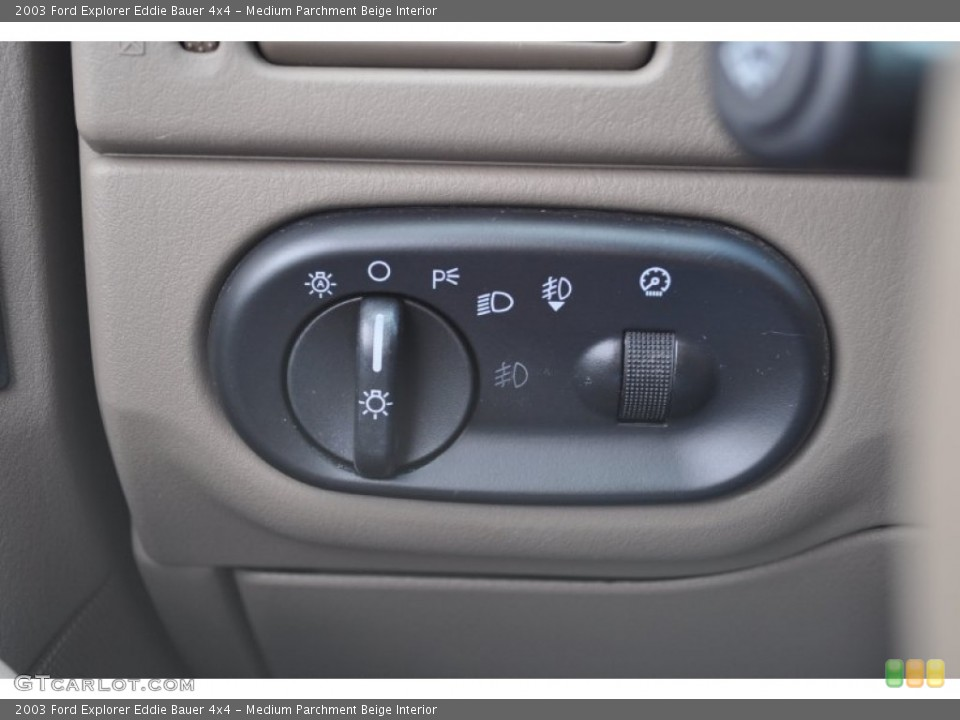 Medium Parchment Beige Interior Controls for the 2003 Ford Explorer Eddie Bauer 4x4 #53500846