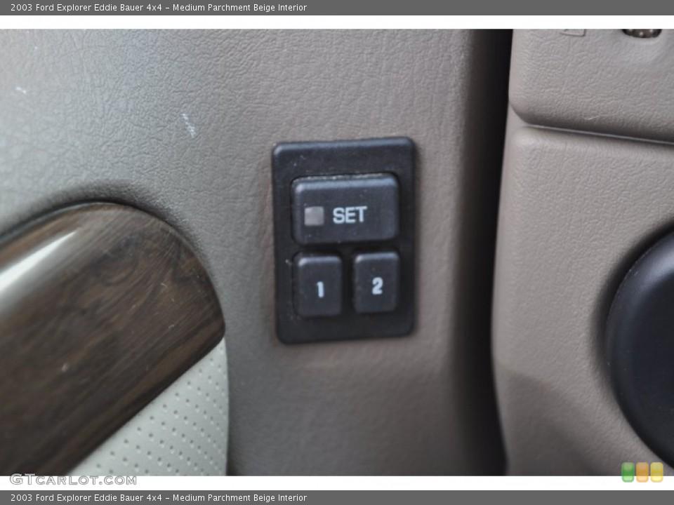 Medium Parchment Beige Interior Controls for the 2003 Ford Explorer Eddie Bauer 4x4 #53500853