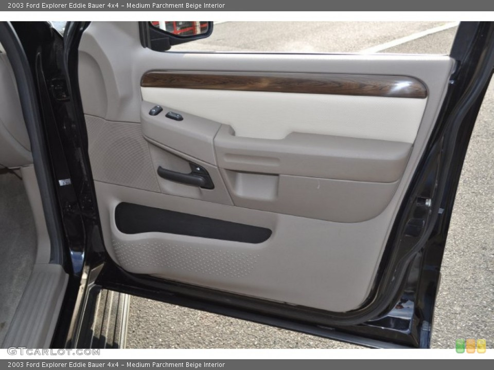 Medium Parchment Beige Interior Door Panel for the 2003 Ford Explorer Eddie Bauer 4x4 #53500917